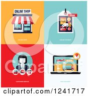 Clipart Of Online Business And Store Icons Royalty Free Vector Illustration by elena