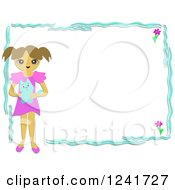 Girl Holding A Blue Cat In A Frame
