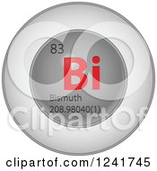 3d Round Red And Silver Bismuth Chemical Element Icon