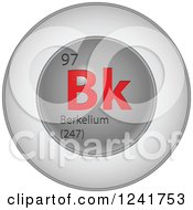 Clipart Of A 3d Round Red And Silver Berkelium Chemical Element Icon Royalty Free Vector Illustration