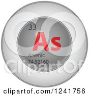 3d Round Red And Silver Arsenic Chemical Element Icon