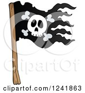 Clipart Of A Pirate Jolly Roger Flag Royalty Free Vector Illustration by visekart