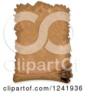 Clipart Of A Very Old Antique Parchment Scroll Royalty Free Vector Illustration