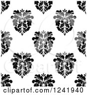 Clipart Of A Seamless Black And White Damask Background Pattern 32 Royalty Free Vector Illustration