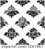 Clipart Of A Seamless Black And White Damask Background Pattern 29 Royalty Free Vector Illustration by Seamartini Graphics