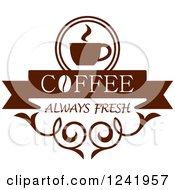 Clipart Of A Brown Coffee Label Royalty Free Vector Illustration by Seamartini Graphics