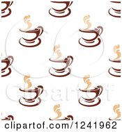 Clipart Of A Seamless Hot Coffee Background Pattern Royalty Free Vector Illustration