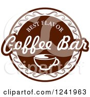 Clipart Of A Brown Coffee Bar Label Royalty Free Vector Illustration by Seamartini Graphics
