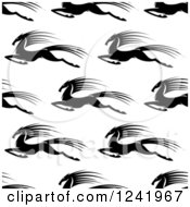 Clipart Of A Seamless Black And White Fast Horse Background Pattern Royalty Free Vector Illustration by Seamartini Graphics