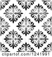 Clipart Of A Seamless Black And White Ornate Background Pattern Royalty Free Vector Illustration by Seamartini Graphics