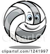 Clipart Of A Smiling Volleyball Character Royalty Free Vector Illustration by Vector Tradition SM