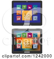 Clipart Of Tablet Computers With Financial Statistical Graphs Royalty Free Vector Illustration by Vector Tradition SM