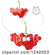 Clipart Of Cranberries Royalty Free Vector Illustration by Vector Tradition SM