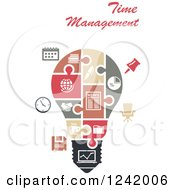 Clipart Of A Puzzle Time Management Light Bulb Royalty Free Vector Illustration by Seamartini Graphics