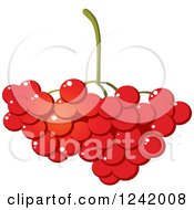 Clipart Of A Bunch Of Cranberries Royalty Free Vector Illustration by Vector Tradition SM
