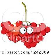 Clipart Of A Happy Cranberry Character Royalty Free Vector Illustration by Vector Tradition SM