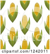 Clipart Of A Seamless Corn Background Pattern Royalty Free Vector Illustration by Seamartini Graphics