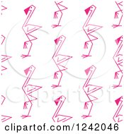 Clipart Of A Seamless Stick Flamingo Background Pattern Royalty Free Vector Illustration by Seamartini Graphics