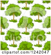 Clipart Of A Seamless Lush Green Tree Background Pattern Royalty Free Vector Illustration by Seamartini Graphics