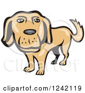 Clipart Of A Happy Golden Retriever Dog Royalty Free Vector Illustration