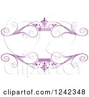Purple Crown And Swirl Flourish Wedding Frame