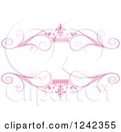 Pink Crown And Swirl Flourish Wedding Frame