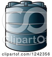 Clipart Of A Water Holding Tank Royalty Free Vector Illustration by Lal Perera