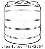 Clipart Of A Black And White Water Holding Tank Royalty Free Vector Illustration by Lal Perera