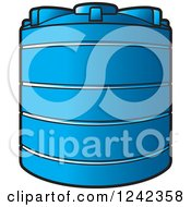 Clipart Of A Blue Water Holding Tank Royalty Free Vector Illustration by Lal Perera