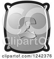 Clipart Of A Silver Money Bag With A Pound Currency Symbol Royalty Free Vector Illustration by Lal Perera
