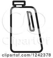 Clipart Of A Black And White Water Jug Royalty Free Vector Illustration