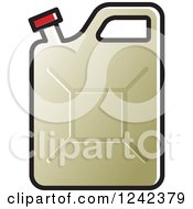 Clipart Of A Beige Water Jug Royalty Free Vector Illustration