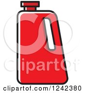 Clipart Of A Red Water Jug Royalty Free Vector Illustration