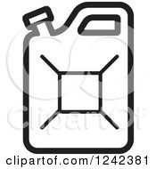 Clipart Of A Black And White Water Jug 3 Royalty Free Vector Illustration