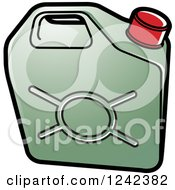 Clipart Of A Green Water Jug Royalty Free Vector Illustration
