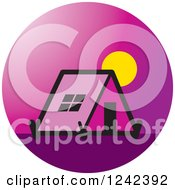 Clipart Of A Purple Tent At Sunrise Or Sunset Royalty Free Vector Illustration by Lal Perera