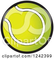 Clipart Of A Gradient Tennis Ball Royalty Free Vector Illustration by Lal Perera
