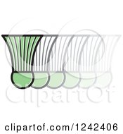 Clipart Of A Green Badminton Shuttlecock In Motion Royalty Free Vector Illustration
