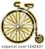 Clipart Of A One Wheel Penny Farthing Cycle Royalty Free Vector Illustration by Lal Perera