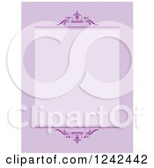 Clipart Of A Purple Ornate Background With Text Space Royalty Free Vector Illustration