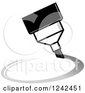 Clipart Of A Gray Marker Pen Drawing A Circle Royalty Free Vector Illustration