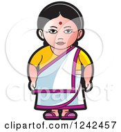 Clipart Of An Indian Lady 3 Royalty Free Vector Illustration
