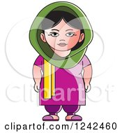 Clipart Of An Indian Lady 6 Royalty Free Vector Illustration