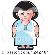 Clipart Of An Indian Lady 7 Royalty Free Vector Illustration