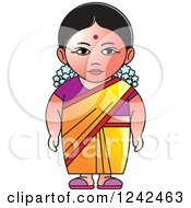 Clipart Of An Indian Lady 2 Royalty Free Vector Illustration