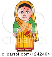 Clipart Of An Indian Lady Royalty Free Vector Illustration