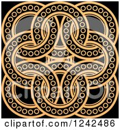 Clipart Of Tan And Black Celtic Rings Royalty Free Vector Illustration by Lal Perera