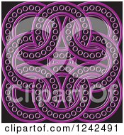 Clipart Of Purple And Black Celtic Rings Royalty Free Vector Illustration