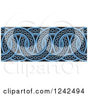Clipart Of A Border Of Black And Blue Rings Royalty Free Vector Illustration by Lal Perera