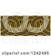 Clipart Of A Border Of Black And Brown Rings Royalty Free Vector Illustration by Lal Perera
